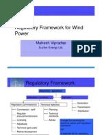 Wind Regulatory Framework in India