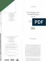 Hume - Uma Investigação sobre o entendimento humano [Até Seção V]