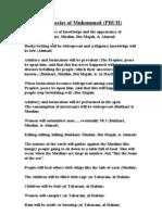 Prophecies of Nabi SallAllahu Alayhi Wasallam