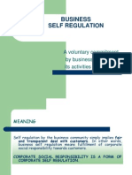 Business Self Regulation