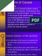 Doctrine of Caveat Emptor and Caveat Venditor