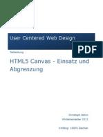 HTML5 Canvas - Einsatz Und Abgrenzung