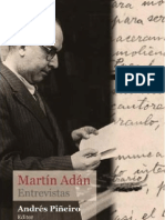 Reportaje exclusivo al gran Martín Adán  por Carlos Debernardi