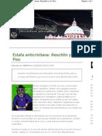 Estafa Anticristiana-Reuchlin y Los Piso