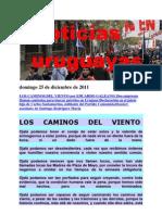 Noticias Uruguayas Domingo 25 de Diciembre de 2011