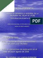 presentacion licencia ambiental