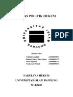 TUGAS POLITIK HUKUM
