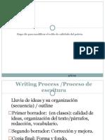 el proceso de redacción