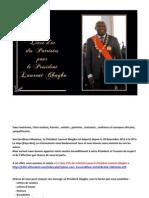 Le Livre d'Or des Patriotes pour le Président Laurent Gbagbo