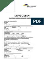 Inscripción Drag Queen 2012