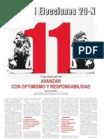 Mundo Obrero, nº 242, noviembre, especial elecciones 20N resultados, 2011