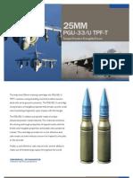 25mm PGU-33/U TPF-T Target Practice Frangible-Tracer