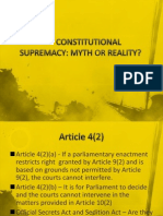 Constitutional Supremacy, Myth or Reality