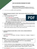 Instructions pour PDA (Masque de saisie et Données)