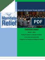 Mandate Relief Redesign Team -- Preliminary Report Min
