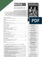 Política. Revista republicana, nº 63, julio-septiembre 2010
