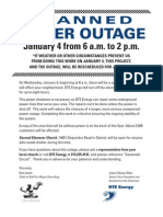 DTE Planned Power Outage