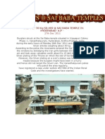 Photos ~ Thefts @ Sai Baba Temples Galore in 2011