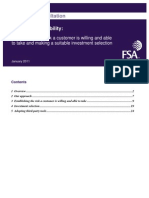 FSA Guidance Suitability