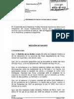 FELIZ ANIVERSARIO DISTRITO DE LA UNIÓN - MOCIÓN DE SALUDO