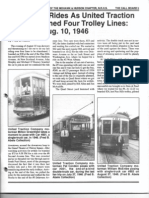 United Traction Co. Last Trolley Rides August 10, 1946
