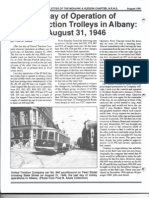 United Traction Co. Trolley Last Day of Operation August 31, 1946