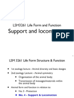 LSM3261_Lecture 11 --- Support & Locomotion