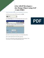 SAP Tutorial for ABAP Developers