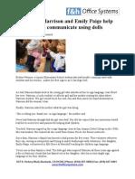 Lodi's Judi Harrison and Emily Paige help deaf children communicate using Dolls