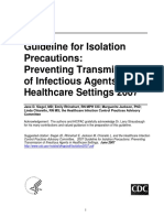 Cdc- Guidelines for Isolation Precaution(2007)