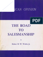 .the Road to Salesmanship