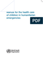 Children in Humanitarian Emergencies Aug2008