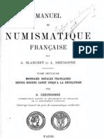 Manuel de numismatique française. T. II