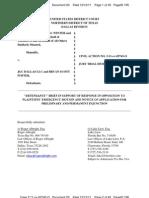 Defendants' Response Emergency Injunctive Motion, Jaguars Lawsuit