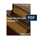 The Ante-Nicene Fathers Vol 1 - Philips Schaff