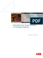 Managing Implementation of Change