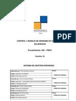 SGI-PR021 Control y Manejo de Derrame de Sustancias Peligrosas