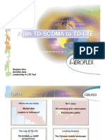 From TD-SCDMA to TD-LTE - Aeroflex Asia - Sept09