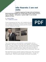 Ron Paul Tells Haaretz - I Am Not an Anti-Semite