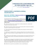 Convocatoria Conf Gral 10-2-2012