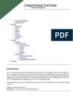 GTA Import_Export Tool Script - Tutorial