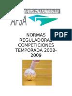 Normas reguladoras Temporada 2008-2009