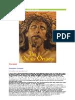 Les 15 Oraisons Plus Image Crucifix de Limpias