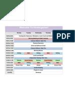 Kindergarten Schedule Spreadsheet
