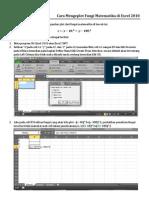 Cara Mengeplot Fungi Matematika Di Excel 2010