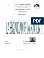 La Seguridad de la Nación en el marco de la Constitución de la República Bolivariana de Venezuela