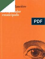 Jacques Rancière - El espectador emancipado