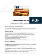 Constitution and by Laws