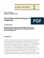 Slavoj Žižek and the Ontology of Political Imagination, by Joseph Carew 2011