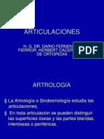 ARTICULACIONES ARTRITIS SEPTICA